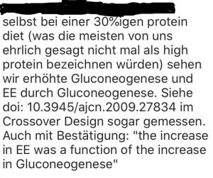 Verwirrende Werbetexte zu Gluconeogenese und Protein 2