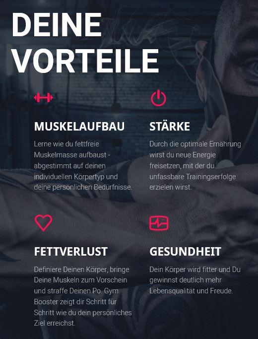 Gym Booster Deine Vorteile