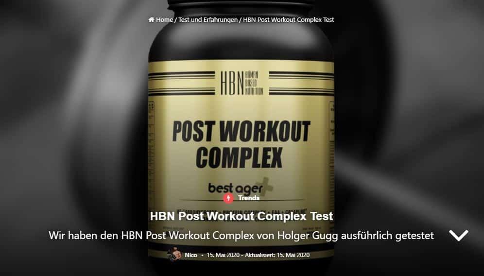 Produkt-Test zu HBN Postworkout Complex