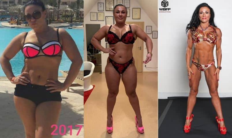 Transformation Body Frauen Athletin