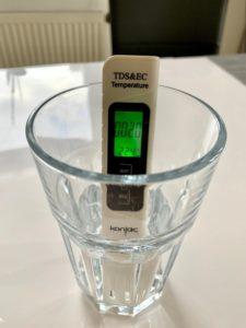 Mikrosiemens Wasser nach Aufbereitung