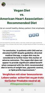 Vegane Ernährung vs. AHA Diet