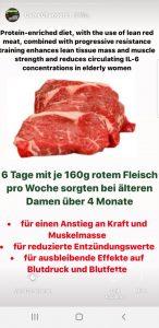 Entzündungswerte mit Fleischkonsum