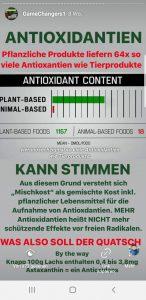 Mischkost für ausreichen Antioxidantien