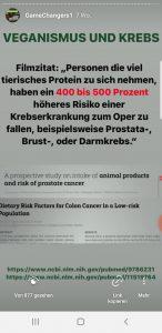 Tierisches Prtein verursacht Krebs