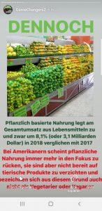 Pflanzliche Lebensmittel Game Changers